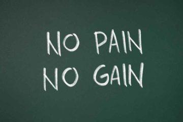 痛みなくして成長なし