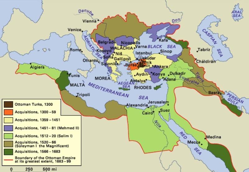 オスマン帝国の領土