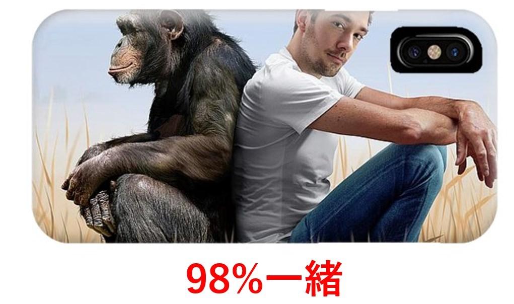 人とチンパンジーのDNAの違い