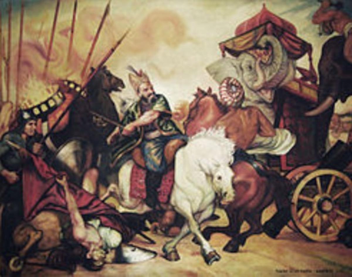 インドに侵攻するナーディール・シャー