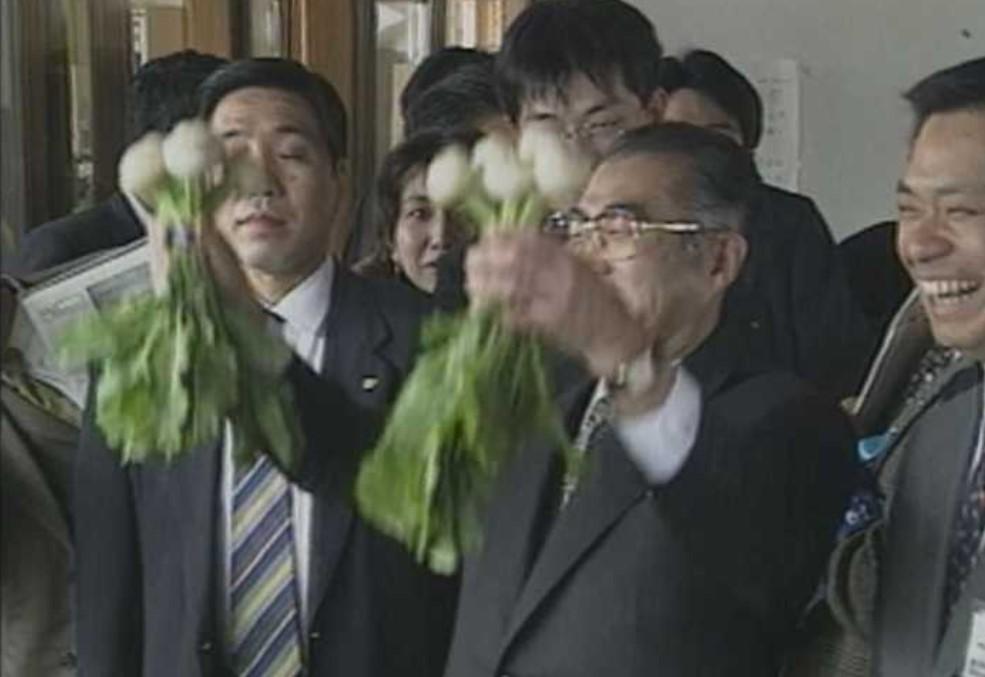 小渕恵三首相、カブ上がれ