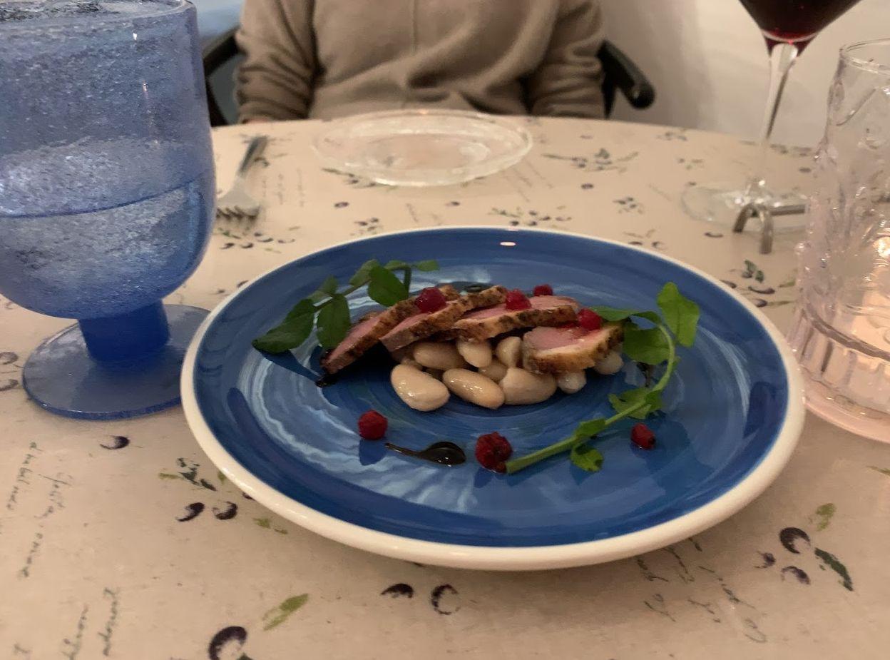 鵠沼グレコ、サルデーニャ料理鴨肉