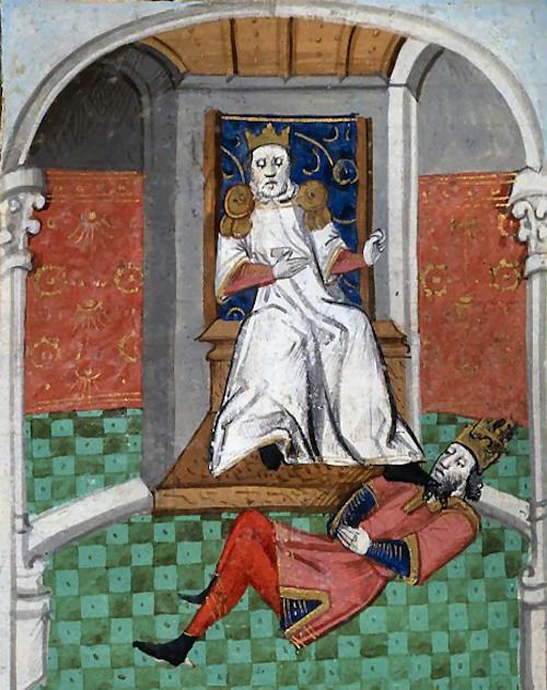 ロマノス帝を辱めるアルプ・アルスラーン