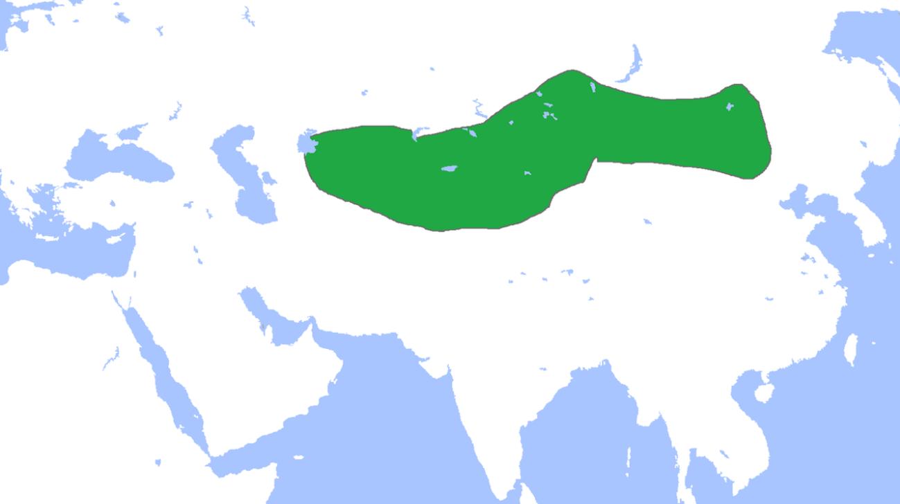 突厥可汗国の支配地域