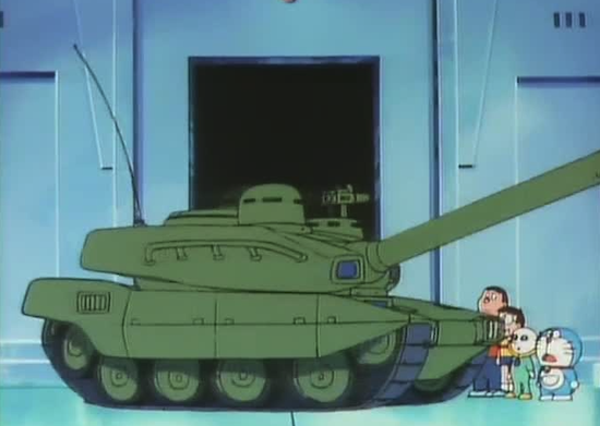 のび太の宇宙小戦争-戦車戦闘シーン