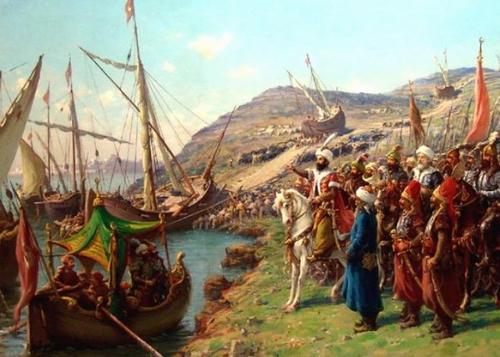 オスマン艦隊の山越え