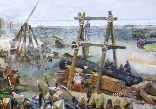 ハンガリーの技師ウルバンの巨砲による大砲をぶっ放すシーン