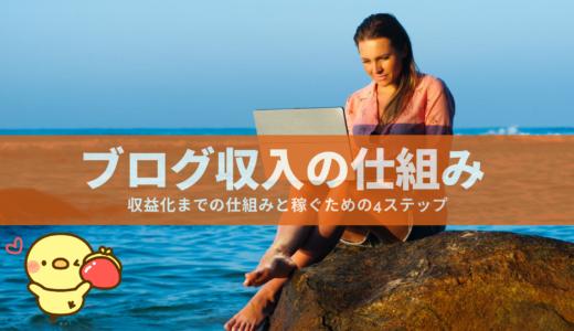 ブログ収入の仕組み | 収益化までの仕組みと稼ぐための4ステップ