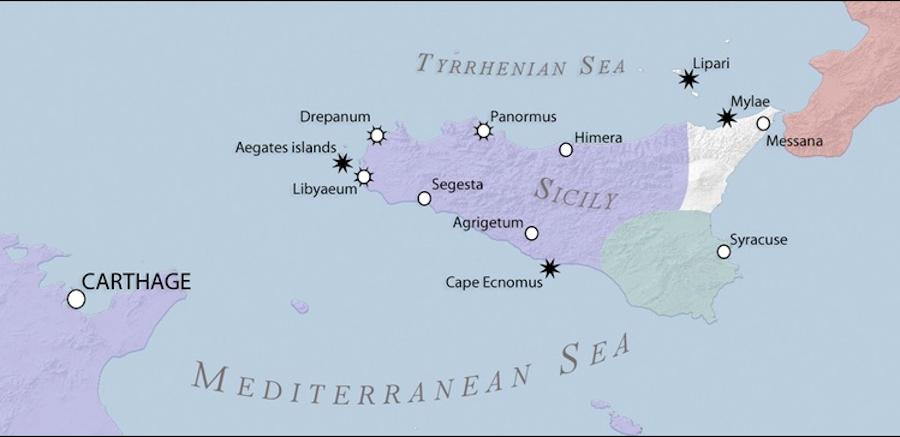 第一次ポエニ戦争時のシチリア島