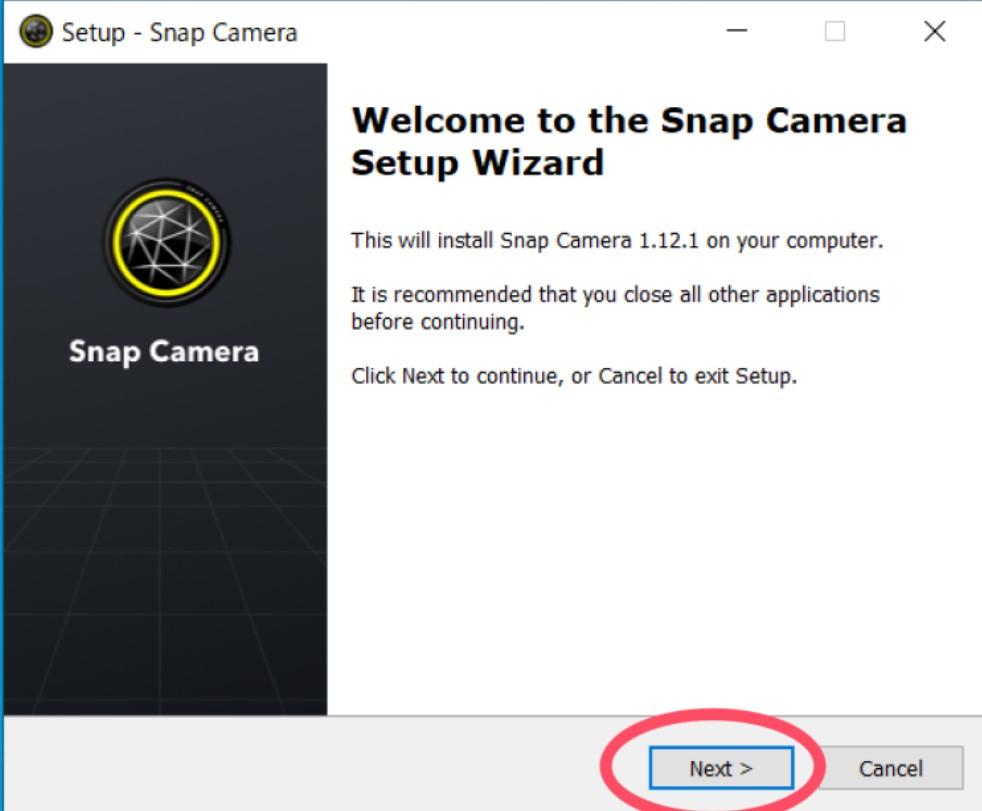 Snapcameraセットアップ