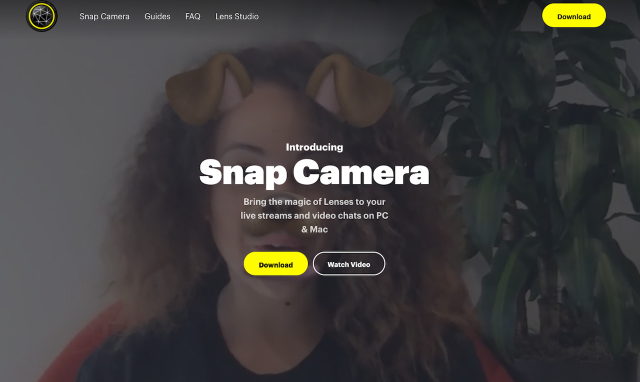 snapcameraのHP