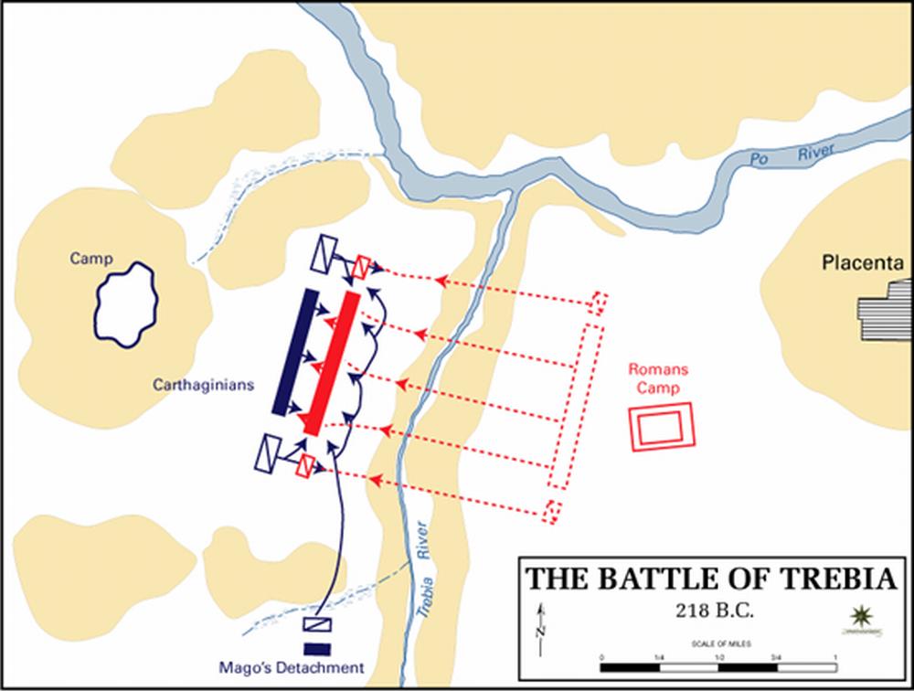 トレビアの戦いの布陣