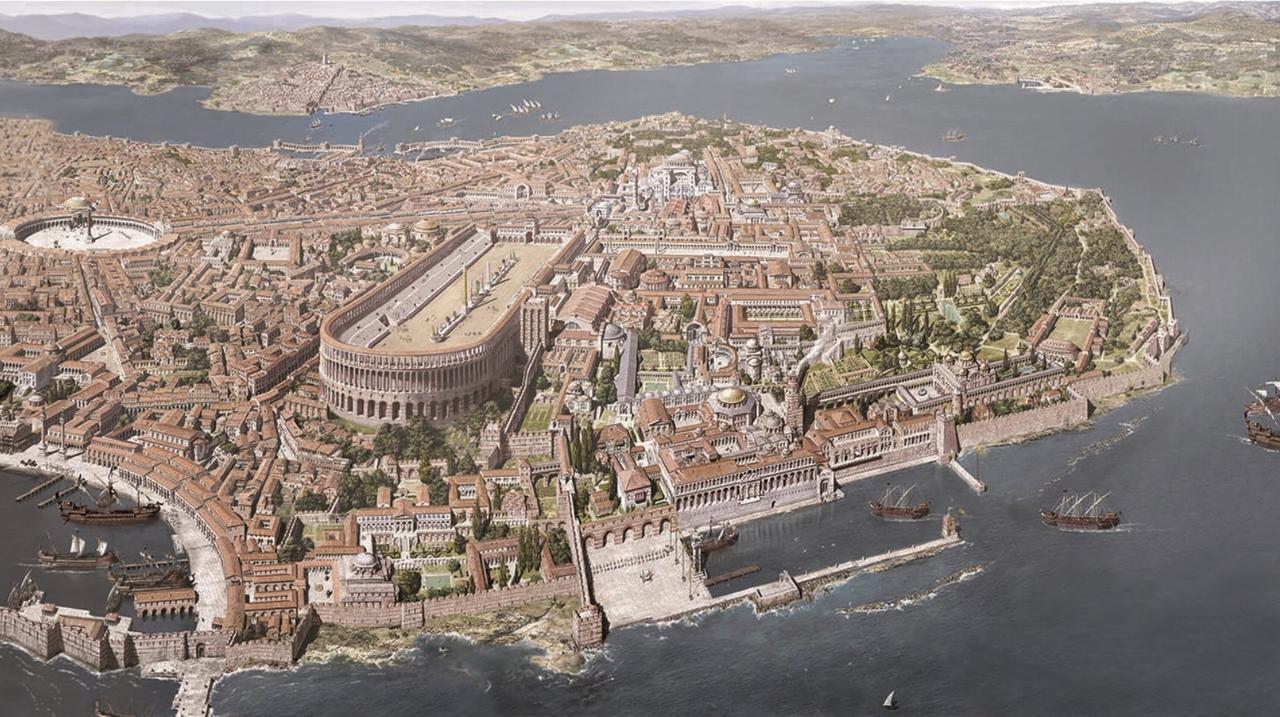 東ローマ時代のコンスタンティノープル